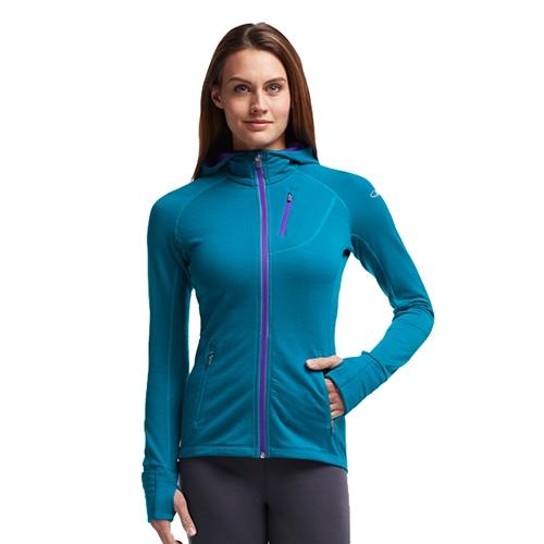 84b0fc9f09 Icebreaker Quantum LS Zip Hood Women's Alpine/Lupin - Icebreaker Style #  101466 403 F15