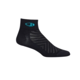 Icebreaker Run+ Ultra Light MC Women's Black/Lagoon