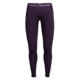 Icebreaker Winter Zone Legging Women's Couloir Eggplant Print