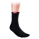 Injinji Crew Toe Socks Unisex Black