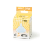 Kid Kanteen Silicone Nipples Medium Flow Clear (2 pack)