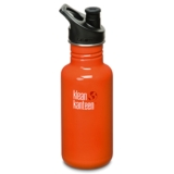 Klean Kanteen 18oz w/Sport Cap Flame Orange