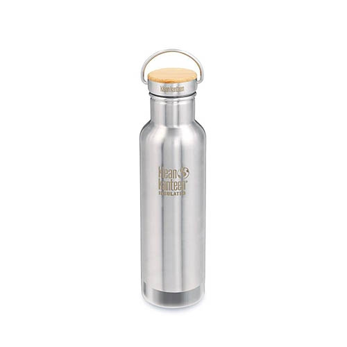 Klean Kanteen 20oz w/Bamboo Insulated Reflect Stainless