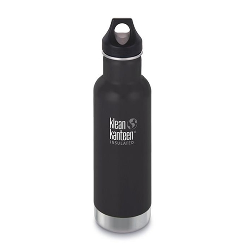 Klean Kanteen 20oz w/Loop Cap Shale Black Insulated