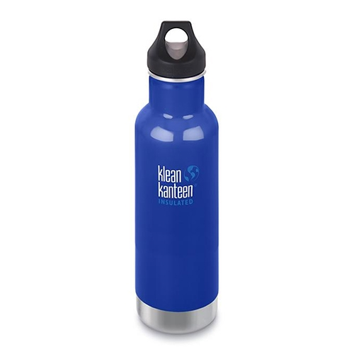 Klean Kanteen 20oz w/Loop Cap Coastal Waters Insulated - Klean Kanteen Style # KI20-1003103 SP18