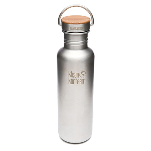 Klean Kanteen 27oz w/Bamboo Brushed Finish Stainless