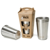 Klean Kanteen Pint Cup 16 oz Brushed Stainless (4 Pack)