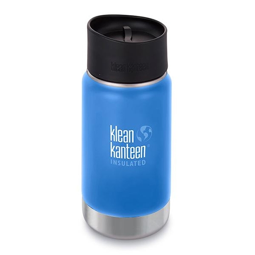 Klean Kanteen Wide 12oz Cafe Insulated Pacific Sky
