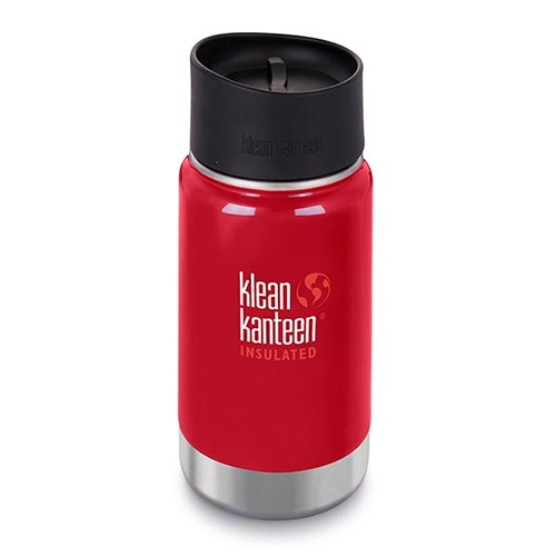 Klean Kanteen Wide 12oz Cafe Insulated Mineral Red