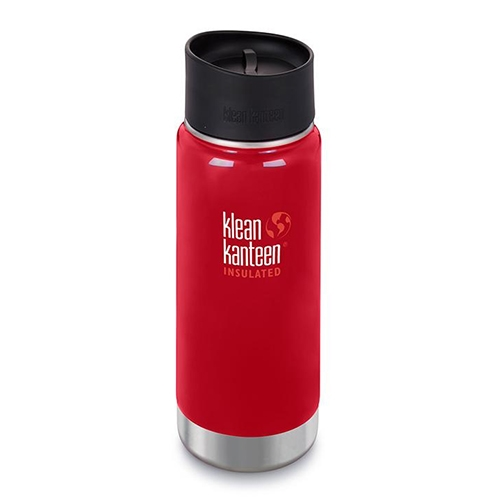 Klean Kanteen Wide 16oz Cafe Insulated Mineral Red