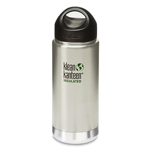 Klean Kanteen Wide 16oz Insulated Brushed Steel