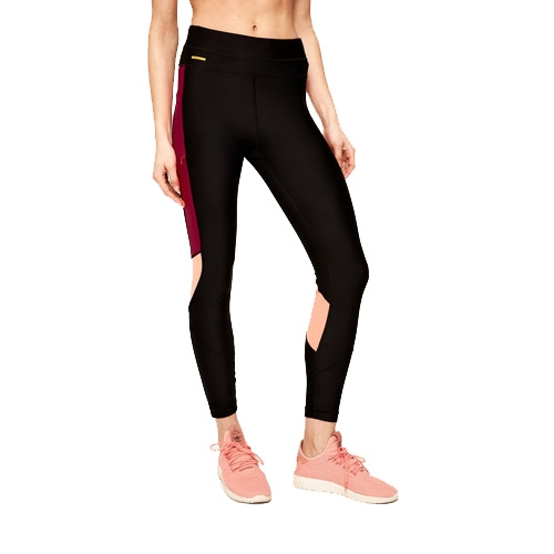 Lole Burst Ankle Leggings Women's Black/Cherries Jubile