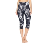 Lole Burst Capris Women's Black Winter Bloom