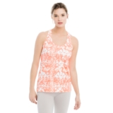 Lole Fancy Tank Women's Fiery Coral Reflection