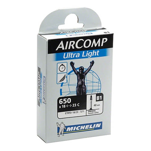 Michelin Aircomp UL Butyl Tube 650 X 20-23C, 60mm Presta