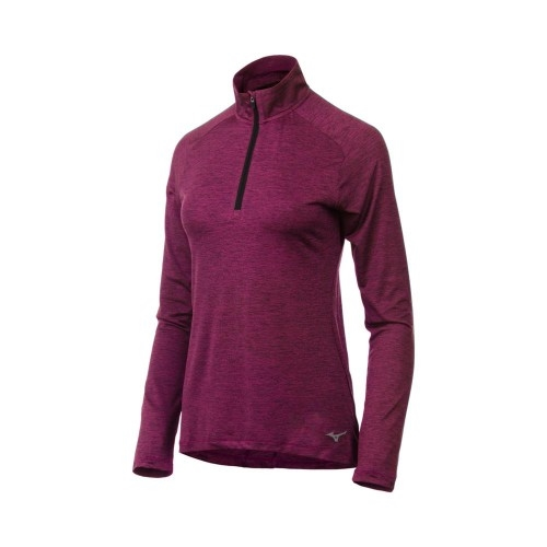 Mizuno Alpha LS 1/2 Zip Women's Purple Potion