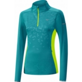Mizuno Vortex Warmlite 1/2 Zip Women's Tile Blue/Yellow
