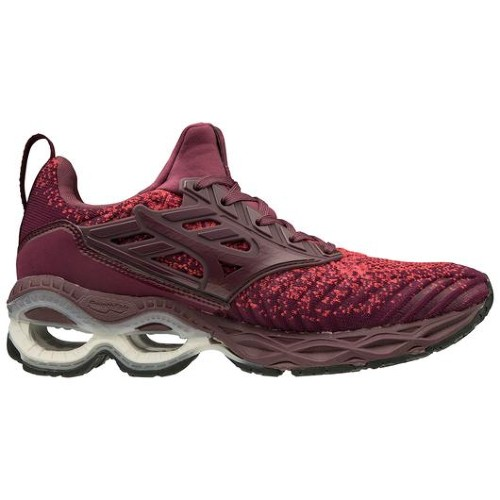Mizuno Wave Creation Waveknit Women's Cayenne/Mauve Wine