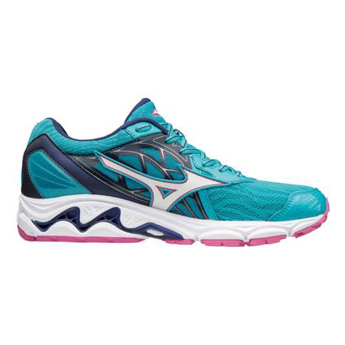 Mizuno Wave Inspire 14 Women's Peacock Blue/Fuchsia