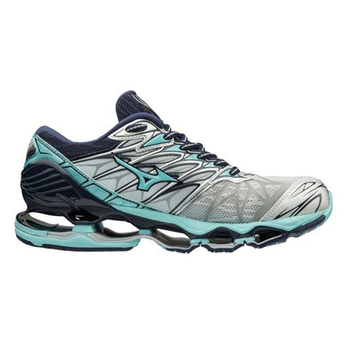 Mizuno Wave Prophecy 7 Women's Silver/Aqua Splash