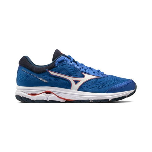 Mizuno Wave Rider 22 Men's Nautical Blue/Tomato