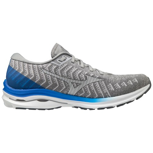 Mizuno Wave Rider 24 Waveknit Men's Frost Grey/White