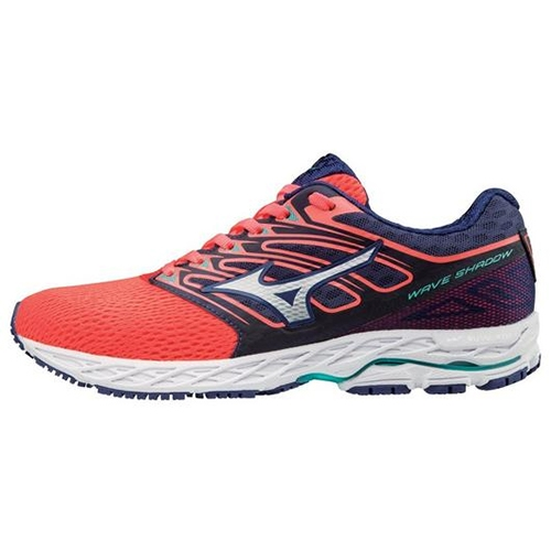 Mizuno Wave Shadow Women's Fiery Coral/White