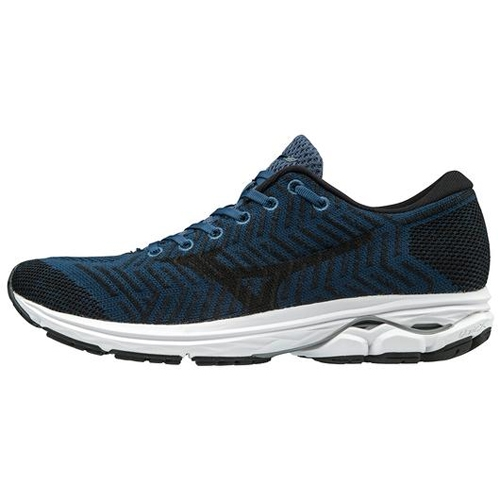 Mizuno Waveknit R2 Men's Blue Wing Teal/Black - Mizuno Style # 411002.BW90 S19 O