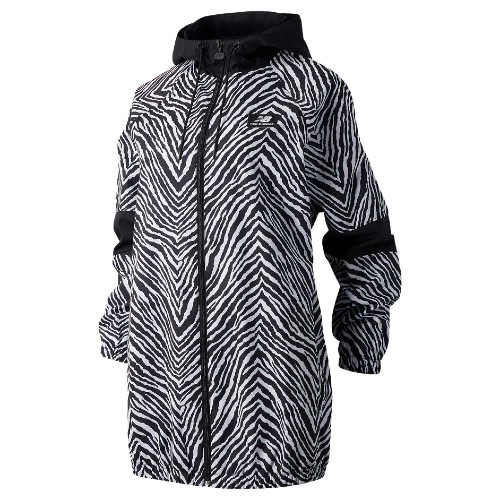 NB Animal Print Mix Jacket Women's Black Multi