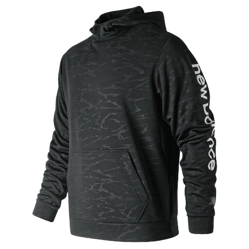 NB Embossed Core Fleece Hood Men's Black