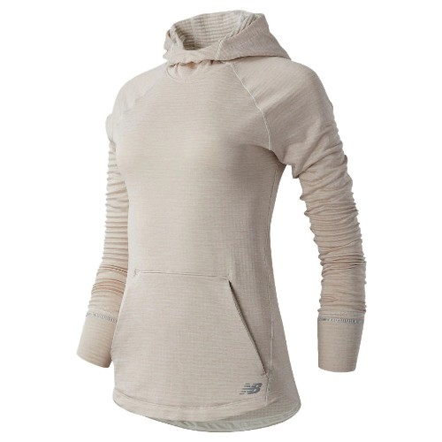 NB Heat Grid Hoodie Women's Sea Salt/Heather