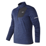 NB Heat Quarter Zip Men's Techtonic Blue Heather