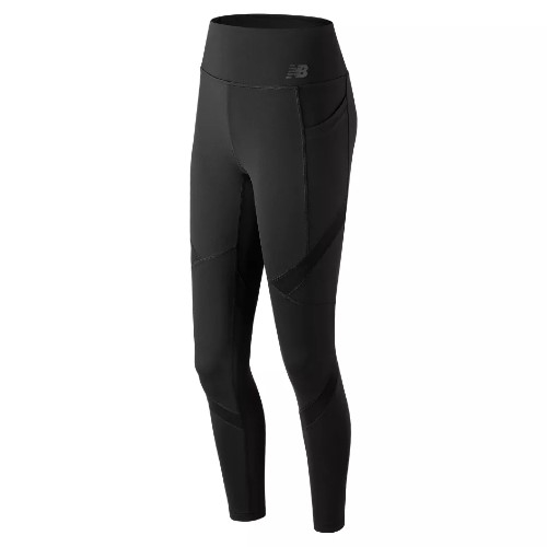 NB High Rise Pocket Tight Women's Black - New Balance Style # WP83142.BK C19