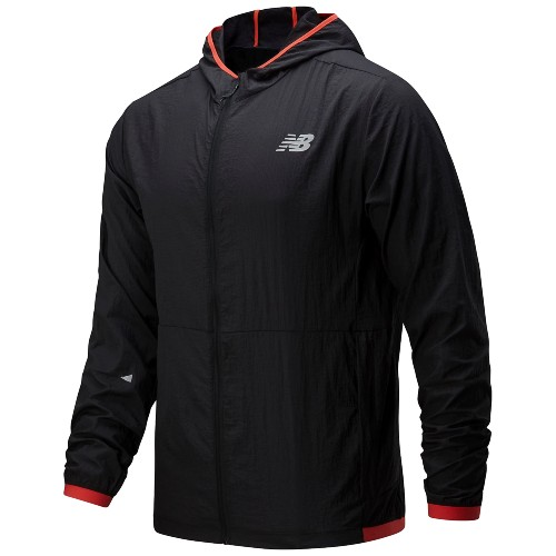 NB Impact Run Lite Pack Jacket Men's Black/Red