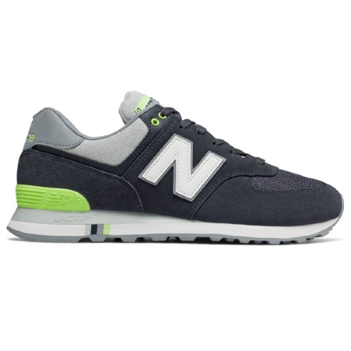 NB ML574TFL Men's Navy/Lime