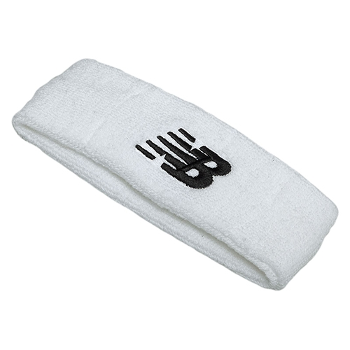 NB Performance Headband Unisex White/Black Embroidery - New Balance Style # 99729