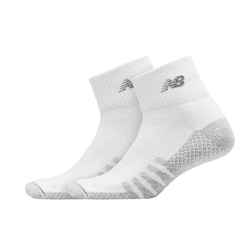 NB Performance Quarter 2 Pack Unisex White/Grey