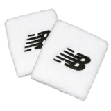 NB Performance Wristbands Unisex White/Black Embroidery