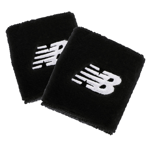 NB Performance Wristbands Unisex Black/White Embroidery