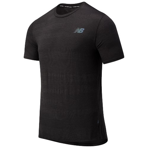 NB Q Speed Fuel Jacquard SS Men's Black Heather