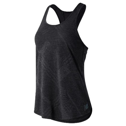 NB Q Speed Fuel Jacquard Tank Women's Black Heather