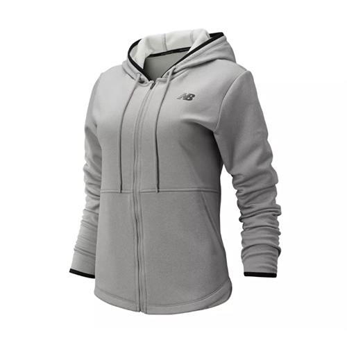 NB Relentless Fleece Full Zip Womens Athletic Grey