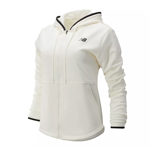 NB Relentless Fleece Full Zip Womens Sea Salt