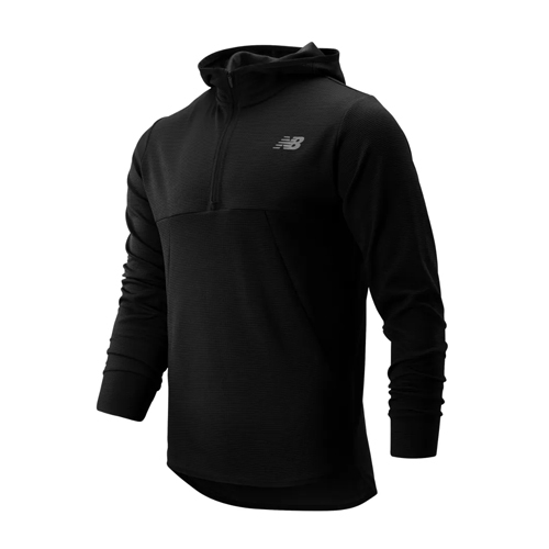 NB Tenacity Hooded Qtr Zip Mens Black