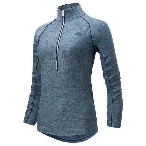 NB Transform 1/2 Zip Women's Stone Blue Heather