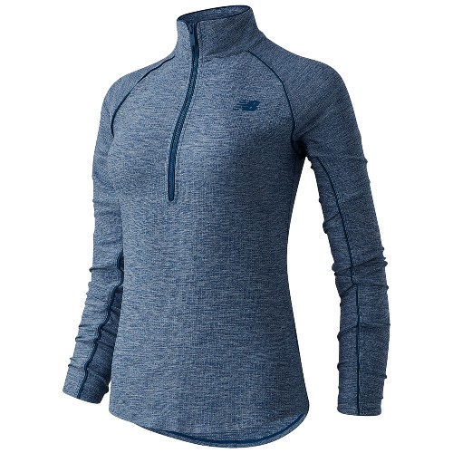 NB Transform 1/2 Zip Women's Rouge Wave Heather