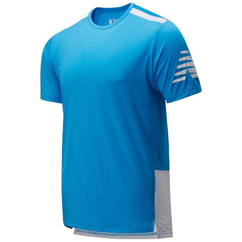 NB Velocity Short Sleeve Men's Vision Blue