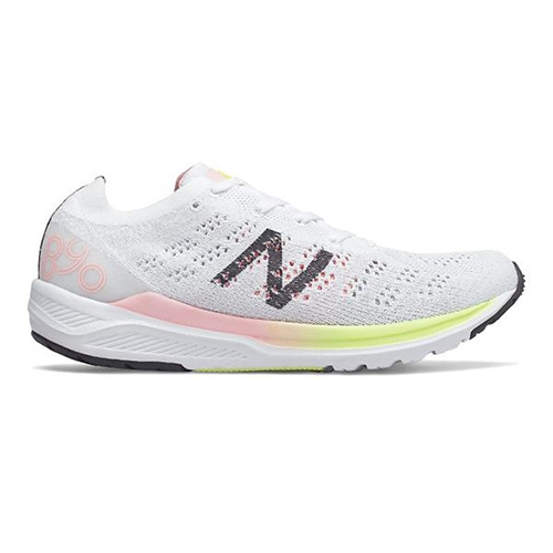 NB W890WO V7 Women's White/Guava Glo