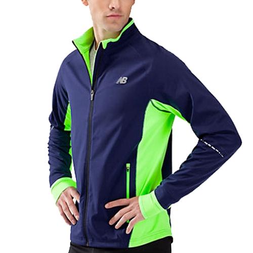Nb Windblocker Jacket Men S Medieval Blue Green Running