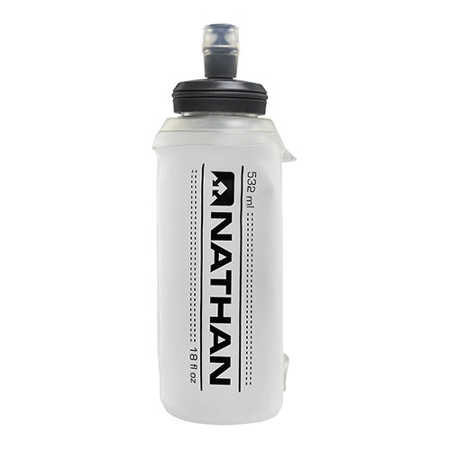 Nathan 18oz Soft Flask w/Bite Clear - Nathan Style # NS4013-0153 S19